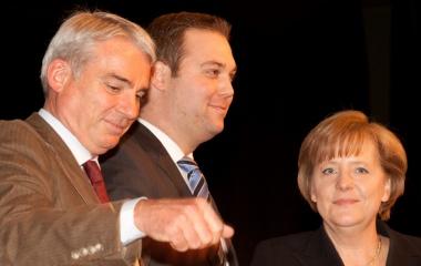 Mit Angela Merkel und Thomas Strobl in der Stadthalle Waldshut