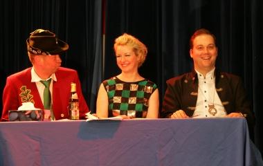 Fasnacht 2014: auf der Bühne beim Narrenverein Oberlauchringen