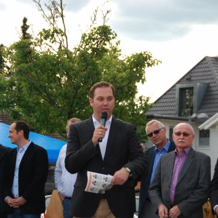 Als Moderator: Kandidatenvorstellung auf dem Marktplatz in Lauchringen zur Kommunalwahl 2014