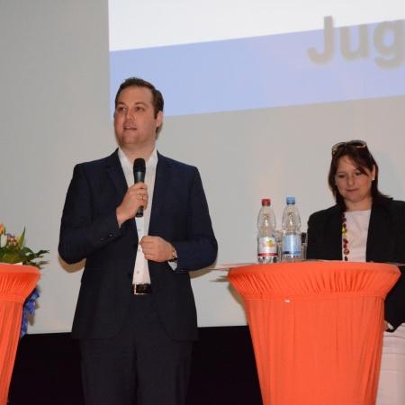 Jugendforum 2014 in Stuttgart: auf dem Podium mit Jugendlichen